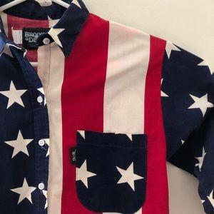 Brooks and Dunn patriotic stars western shirt S